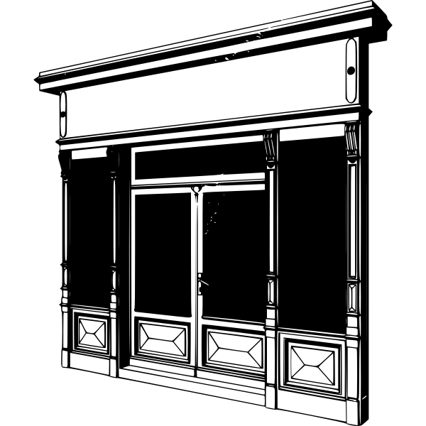 Storefront vector drawing
