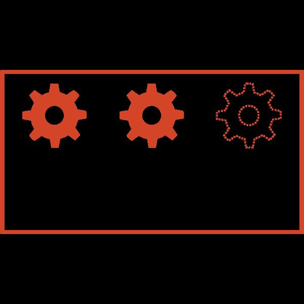 Vector clip art of virtual machine network label
