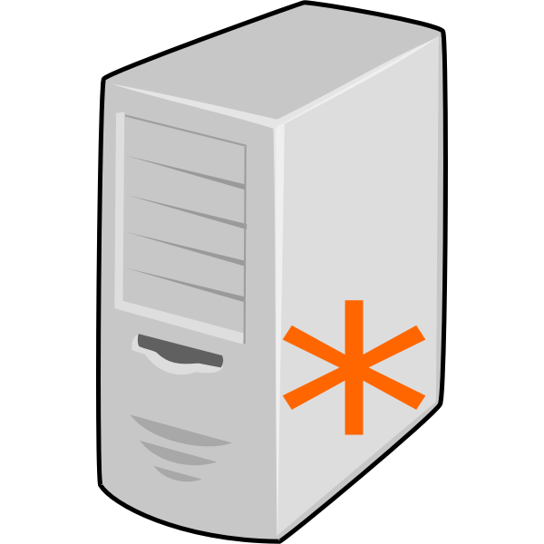 VoIP server vector image