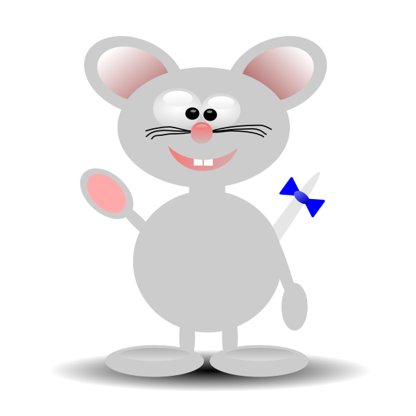 Vector graphics of happy cartoon mouse standing