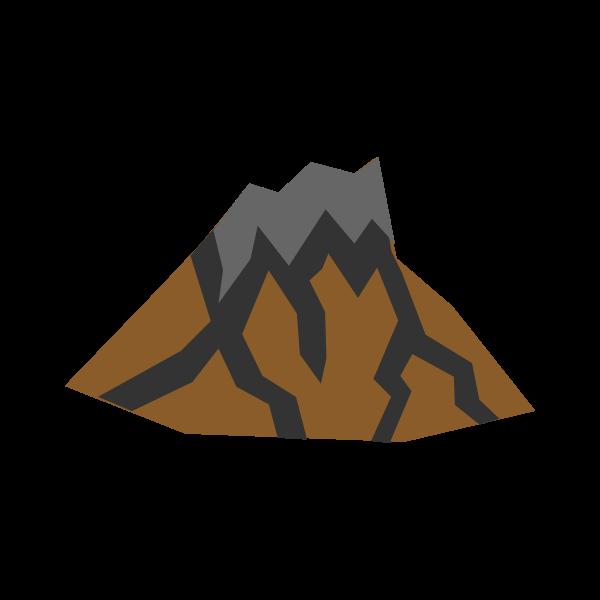 Volcano vector sketch