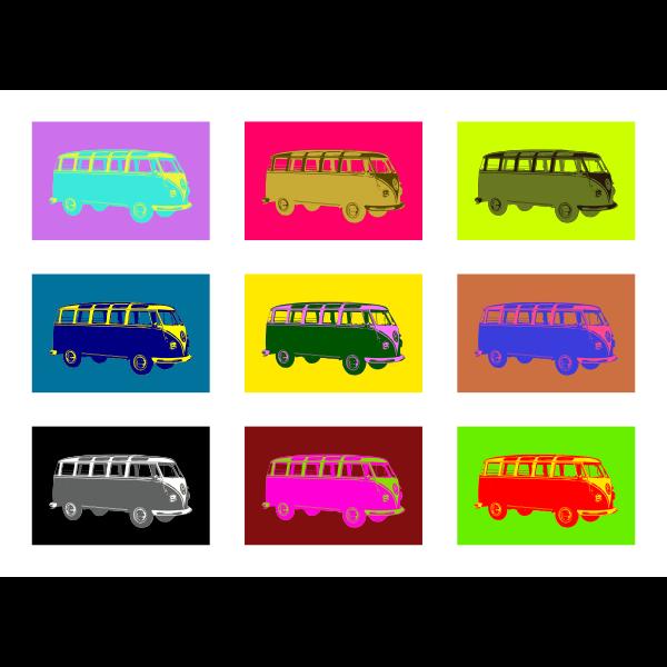 Pop art Volkswagen