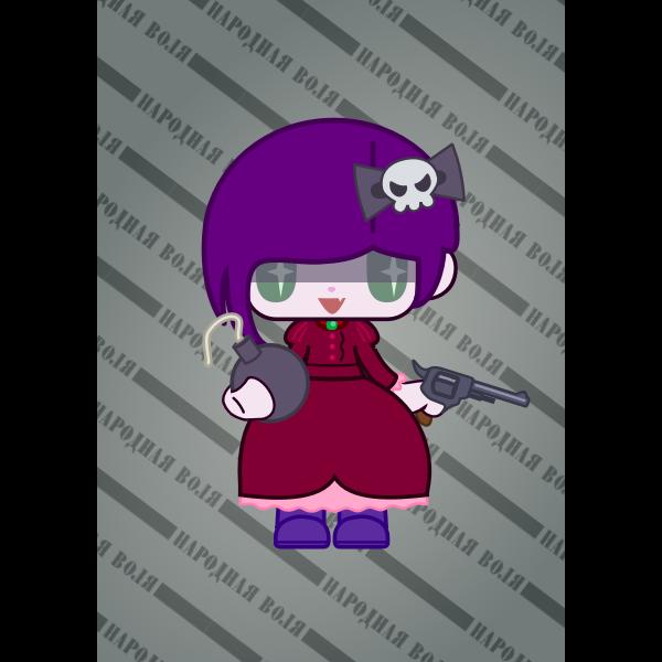 Cartoon female character