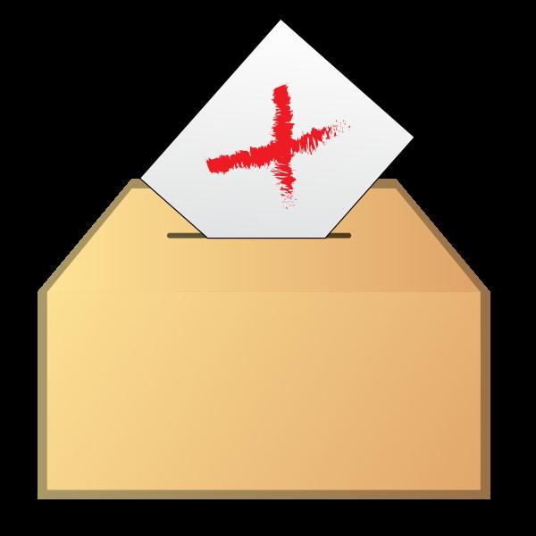 Vote no icon vector drawing