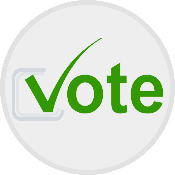 Vote at elections icon vector image
