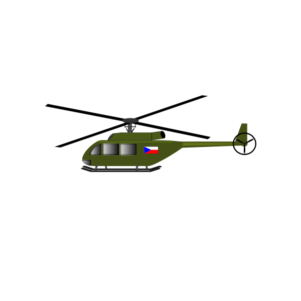 Helicopter vector art