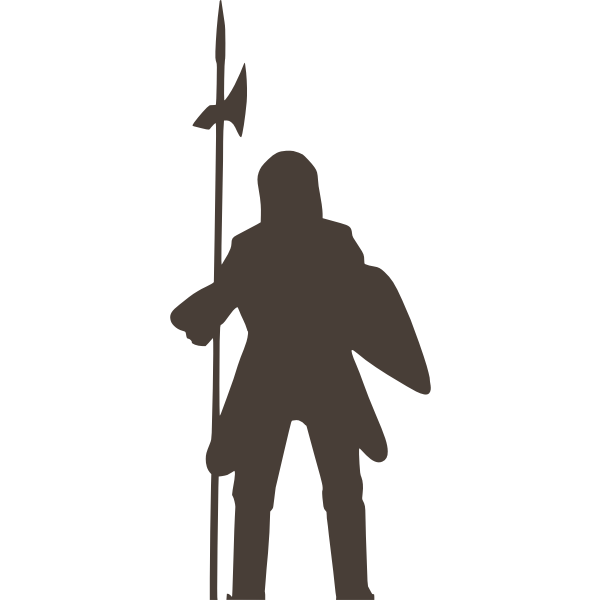 Knight silhouette vector image
