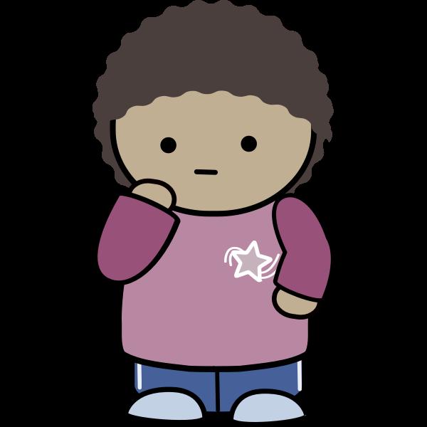 Comic kid character vector image