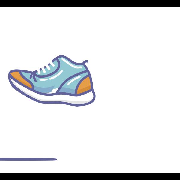 Walking shoe animation
