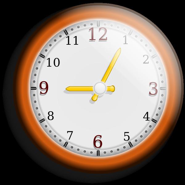 Brown wall clock vector image