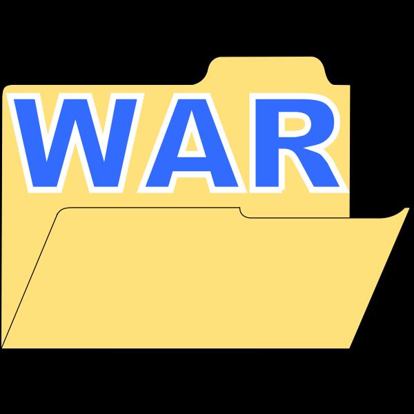 Vector illustration of war directory