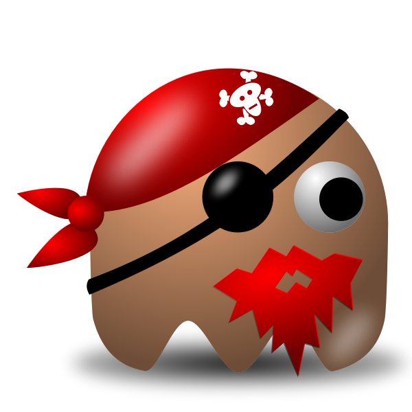 Vector illustration of the king of the pirates in shape of padepokan