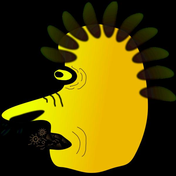 Warlock character profile vector image
