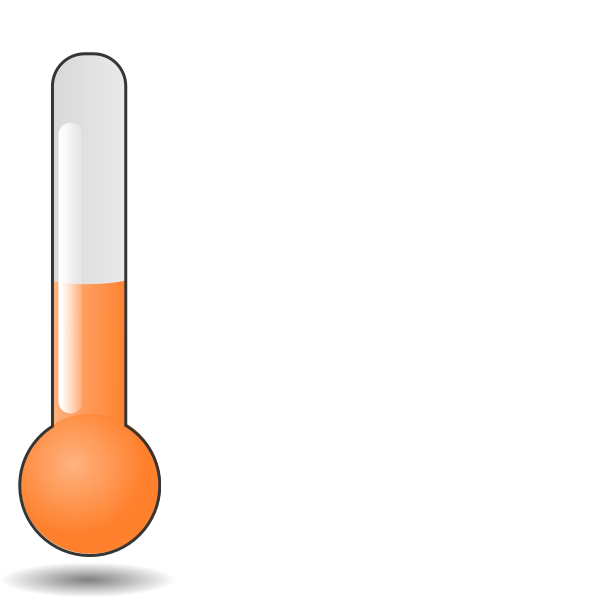 Vector clip art of thermometer tube orange