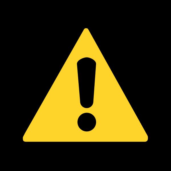 Warning vector symbol
