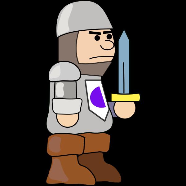 Medieval comic soldier