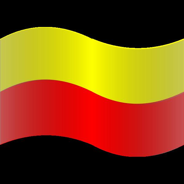 Wavy flag of Warsaw