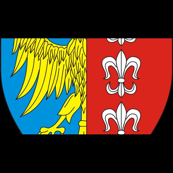 Vector clip art of coat of arms of Bielsko-Biala City
