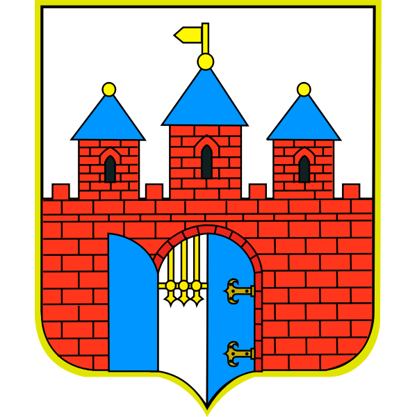 Vector illustration of coat of arms of Bydgoszcz City