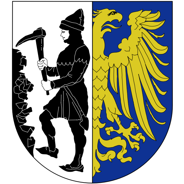 Vector graphics of coat of arms of Bytom City