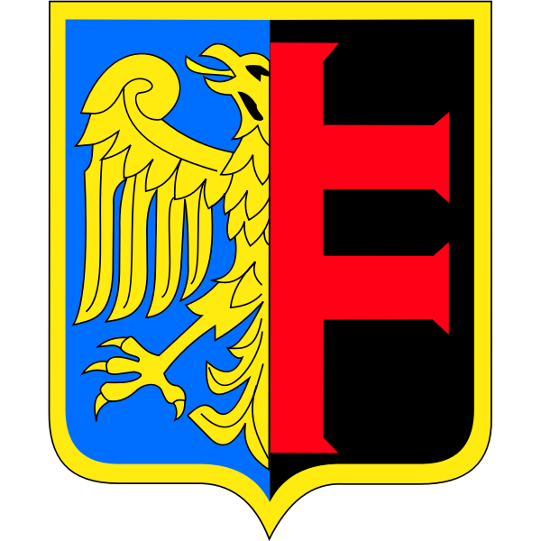 Vector drawing of coat of arms of Chorzow City