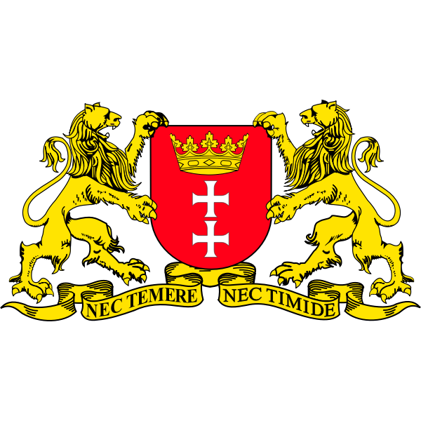 Vector graphics of coat of arms of Gdansk City