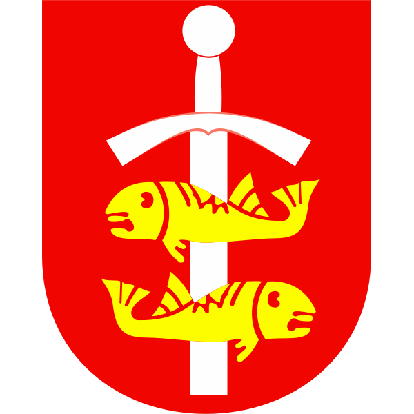 Vector drawing  of coat of arms of Gdyina City
