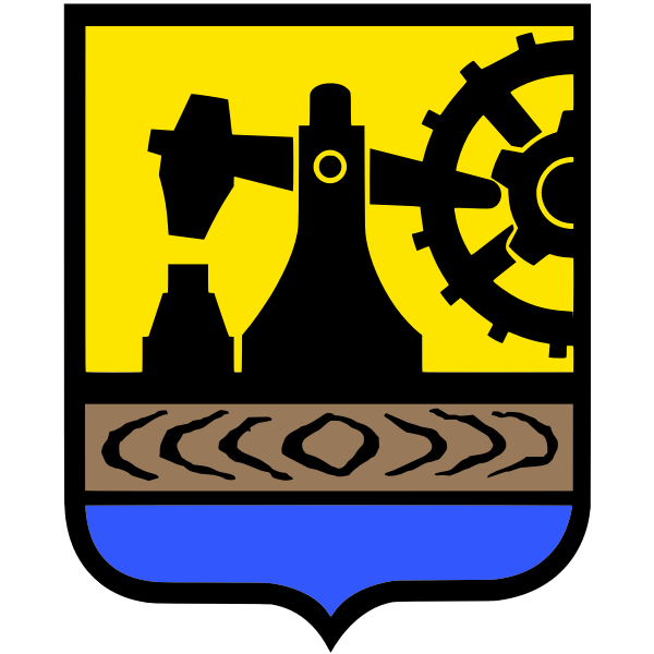 Vector drawing of coat of arms of Katowice City