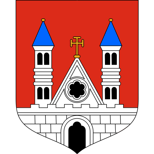 Vector graphics of coat of arms of Plock City