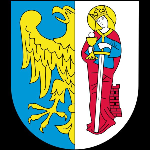 Vector image of coat of arms of Ruda-Slaska City