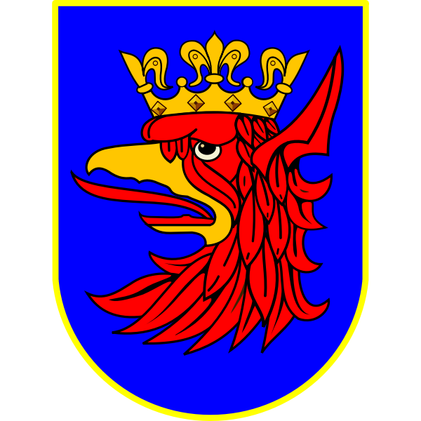Vector illustration of coat of arms of Szczecin City