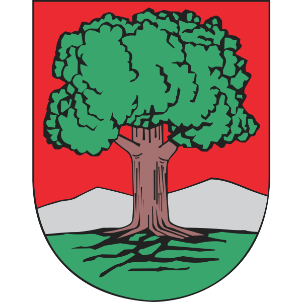 Vector drawing of coat of arms of Walbrzych City