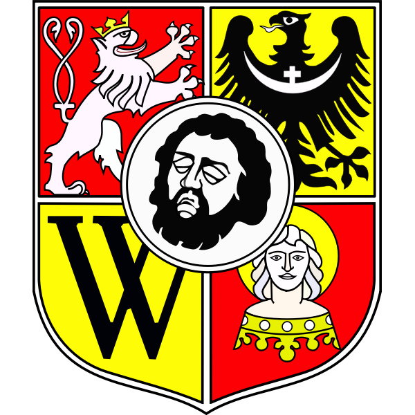 Vector image of coat of arms of Wroclaw City