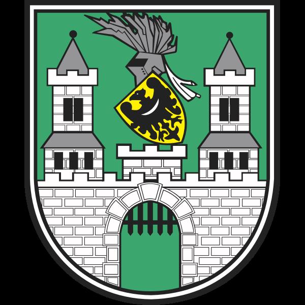 Vector graphics of coat of arms of Zielona Gora City
