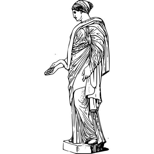 Vector clip art of goddess Hygieia
