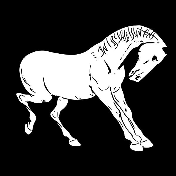 Prancing horse vector graphics