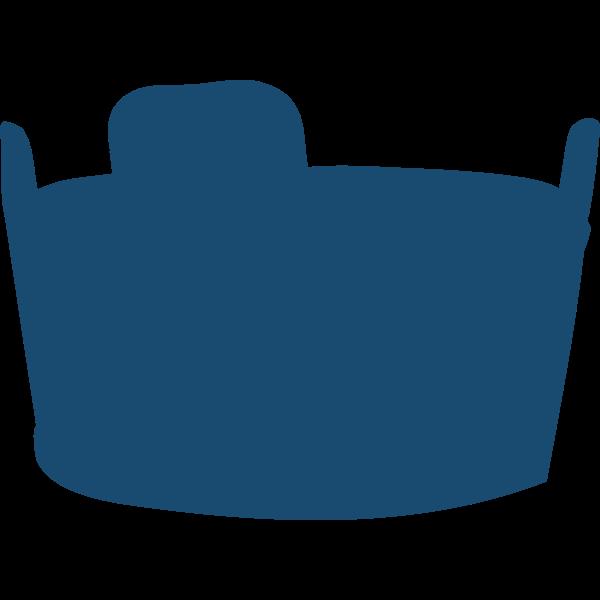 Wash tub silhouette vector image