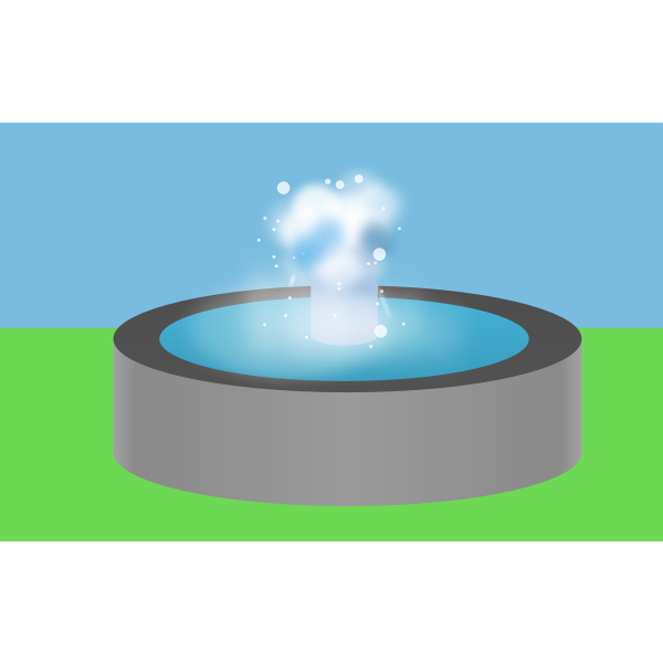 Water fountain vector image