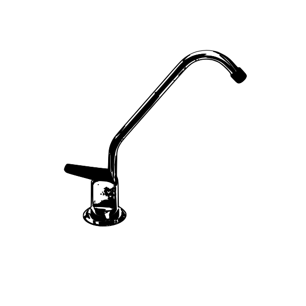 Monochrome water tap vector illustration