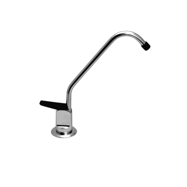Photorealistic water tap in grayscale vector image