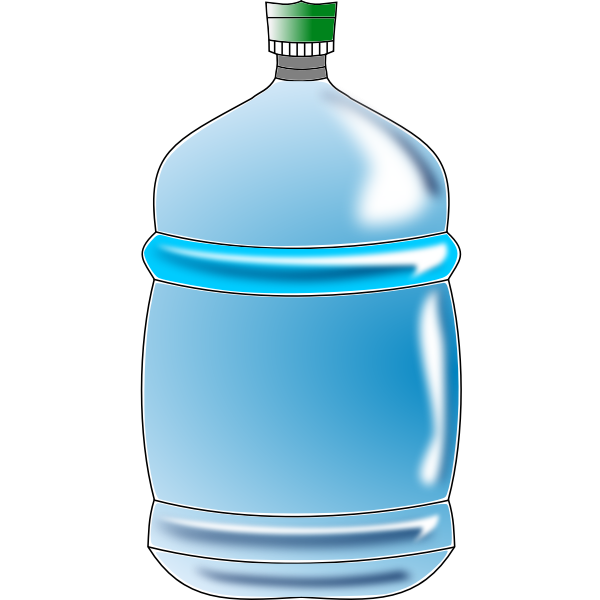 Blue water bottle vector image