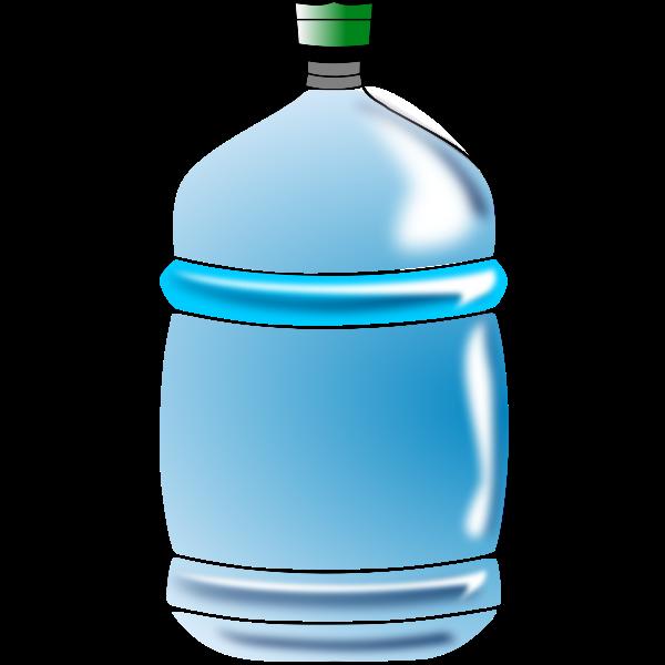 Blue water bottle vector image