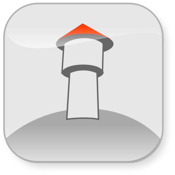 Simple vector drawing of a lighthouse
