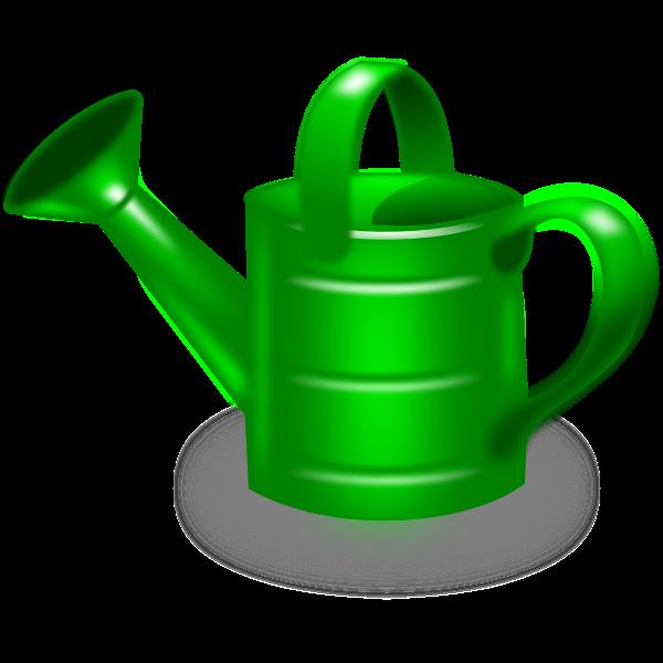 Watering can vector clip art