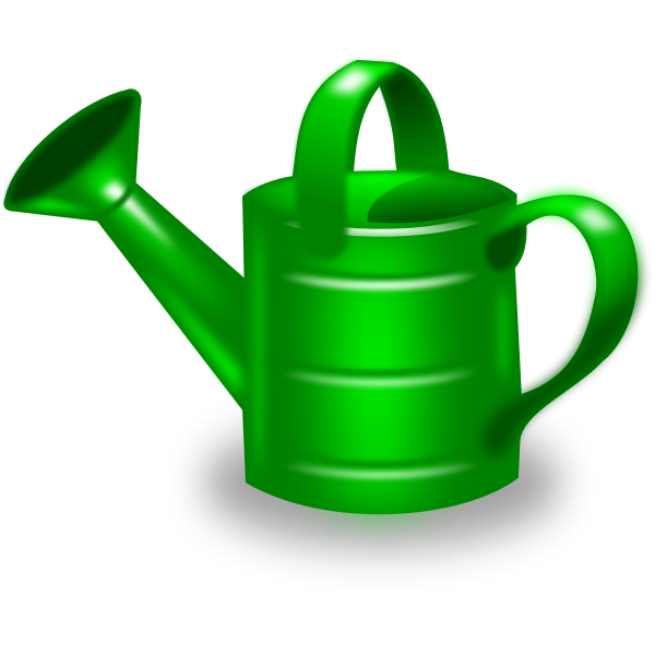 Watering can vector clip art