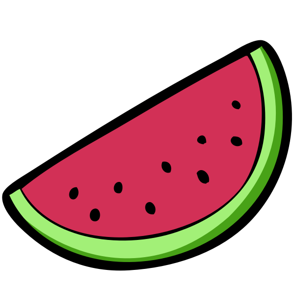 Watermelon slice wedge vector image