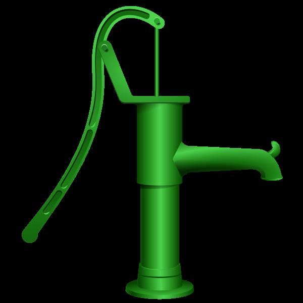 Vector graphics of water pump