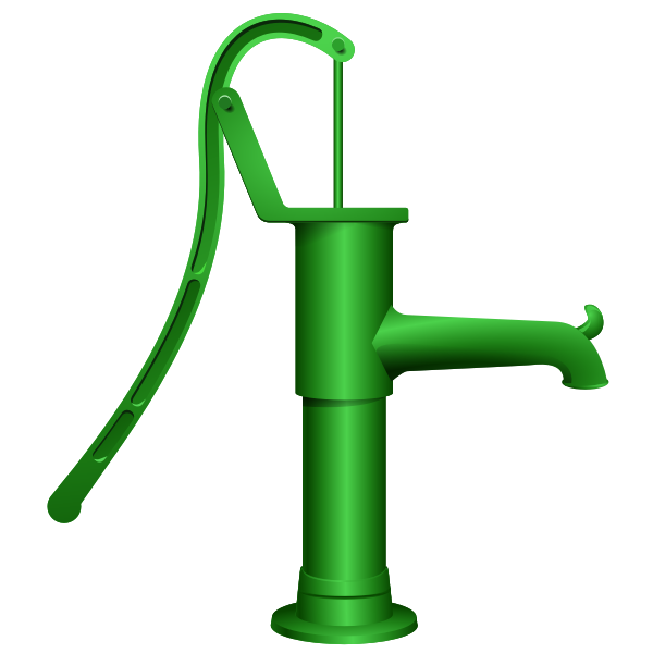 Vector graphics of water pump