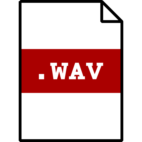 Vector clip art of wav file type computer icon