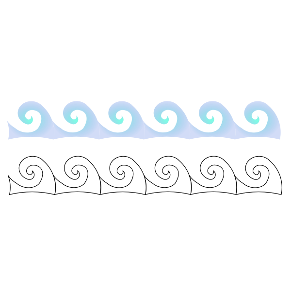Repeating pattern waves